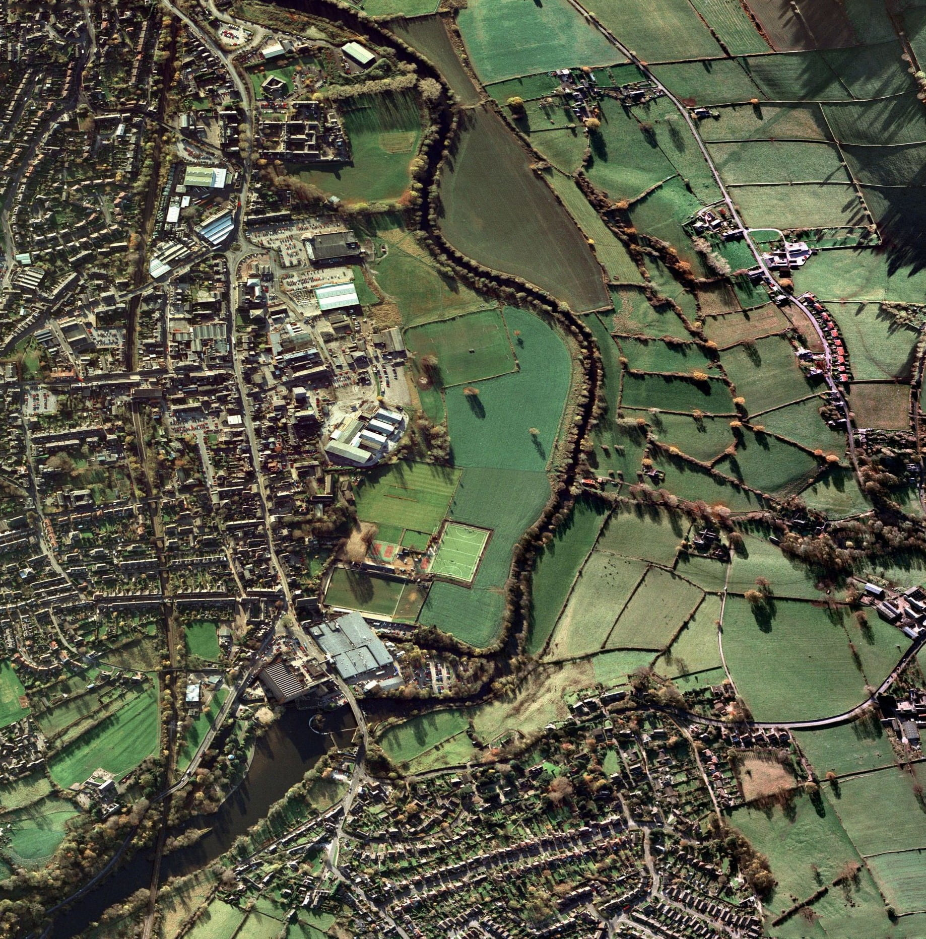 Belper Aerial View