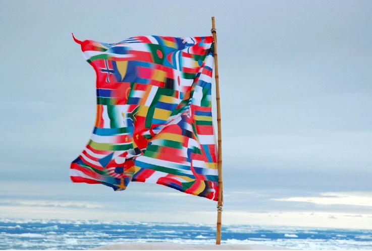 Lucy Orta Antarctica Flag