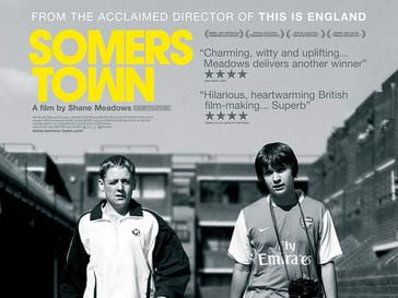 cover of Somers Town movie poster - features two young boys standing together outside of a council estate