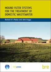Front cover of Mound filter systems for the treatment of domestic wastewater design guide.