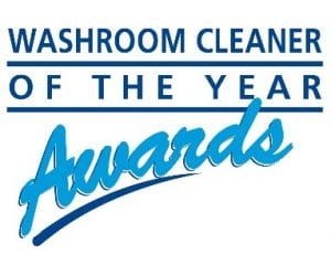 The logo of Washroom Cleaner of the Year Awards - blue text on a white background.