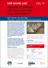 Front cover of Provision of sanitary appliances and their space requirements guide.