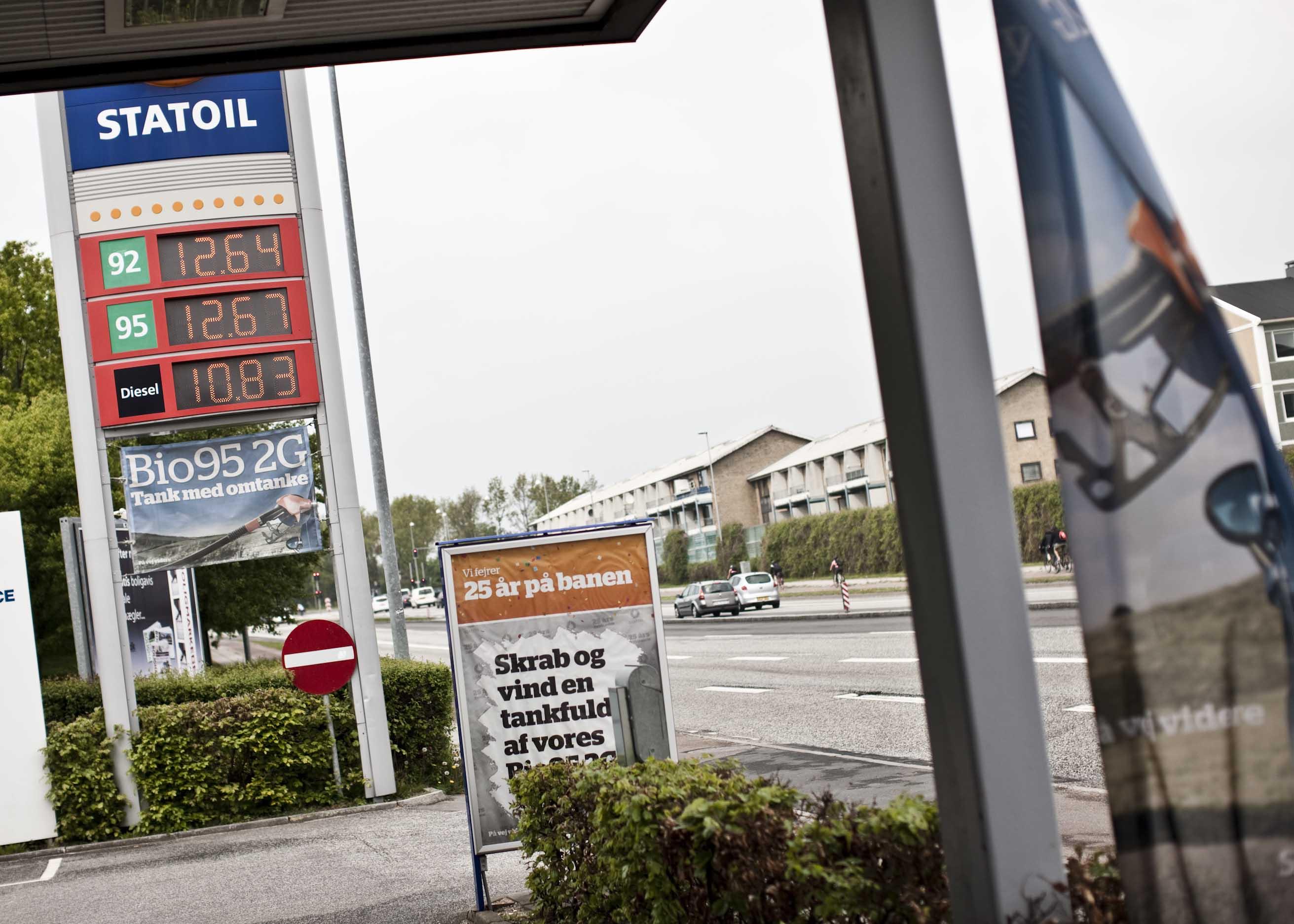 Benzinprisen er bare høj i Aarhus N