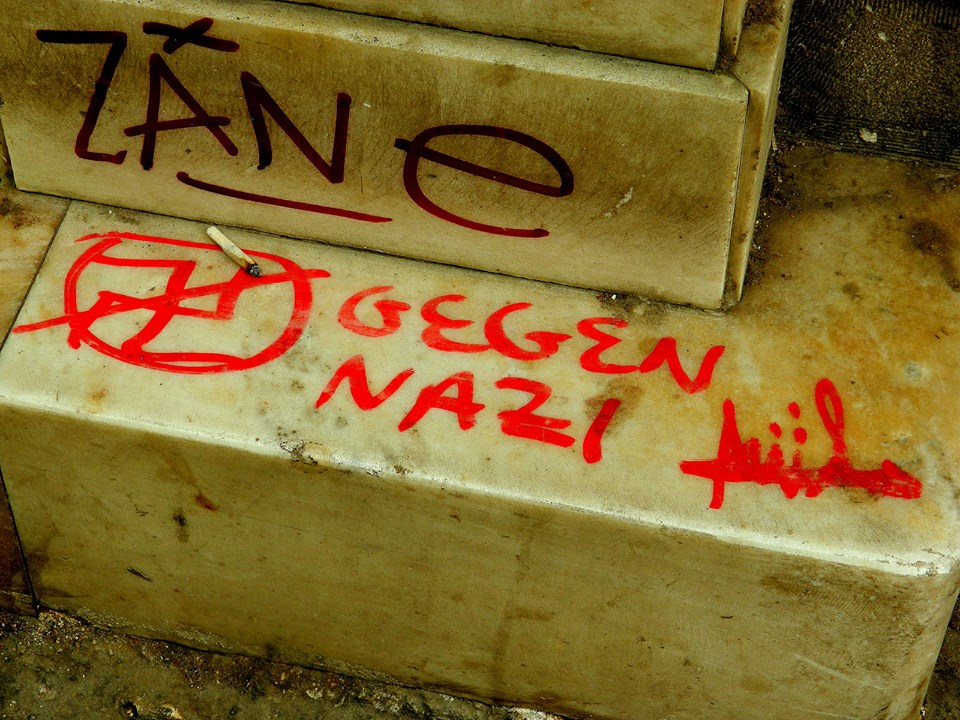 """Against Nazi"", graffiti in Athens. Photo: Bethan Williams"