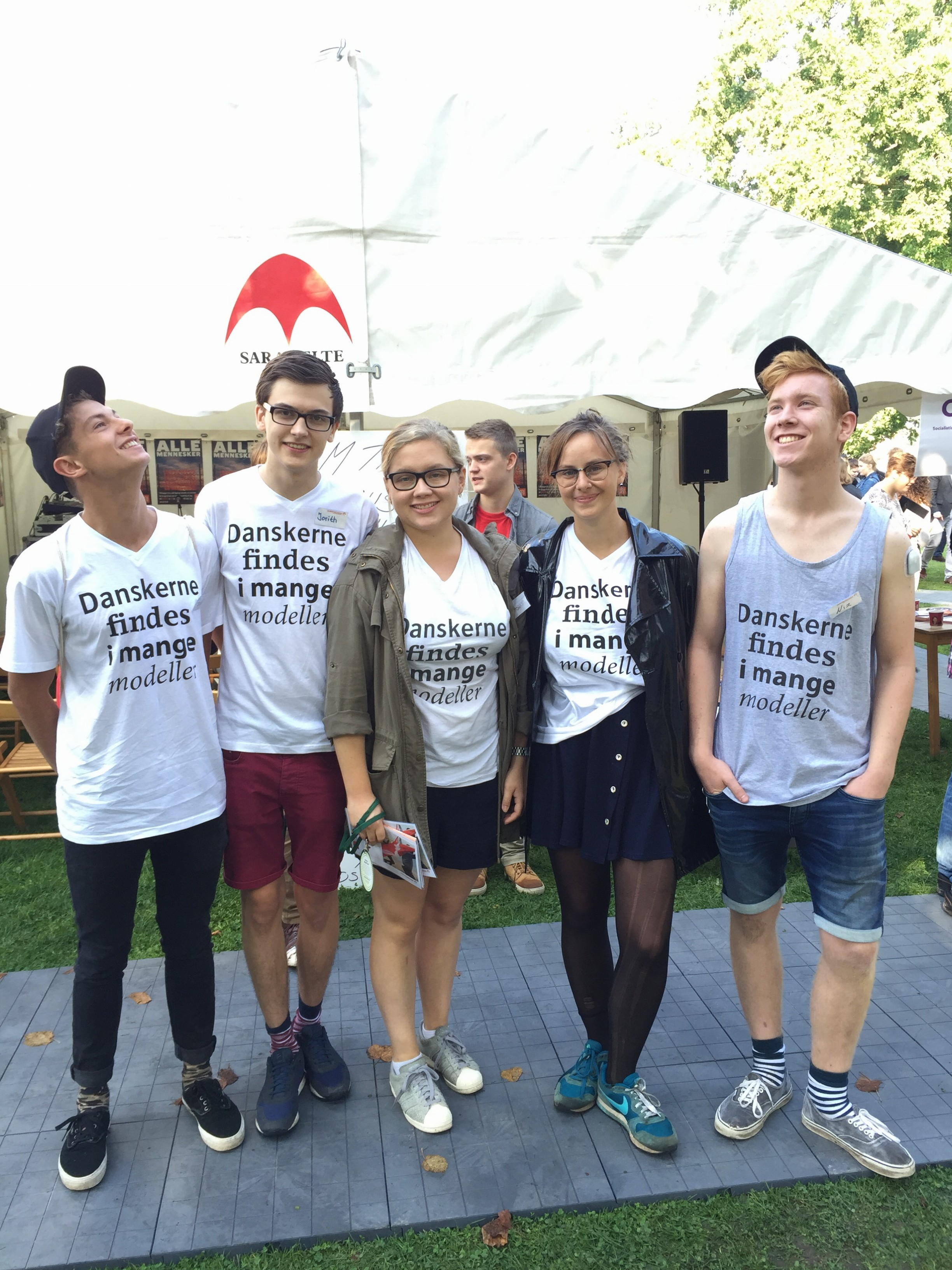There are 20 Student Ambassadors present at the Democratic Youth Festival. Photo: Simon Vincensen