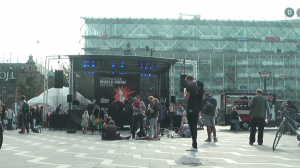 city hall square, copenhagen, world music festival