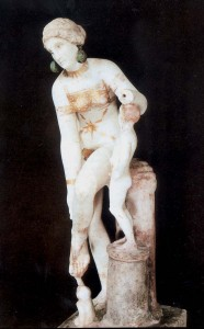 Afrodite med menneskelig tjener