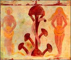 Adam og Eva med træets frugt