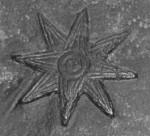Ishtars stjerne med 8 stråler. Et af gudindens symboler, længe før kristendommen opfindes.