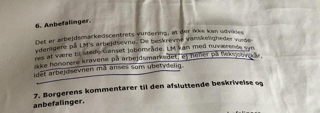 Lars Erik betvivler om de kan læse på kommunen, når de fortsat vil have ham i jobprøvning efter en sådan udmeldning fra hans læge