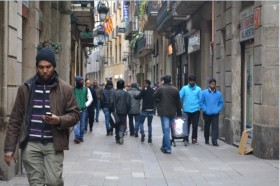 The Raval is the area of Barcelona with a highest rate of immigration, 47.%.  PHOTO: Júlia Manresa