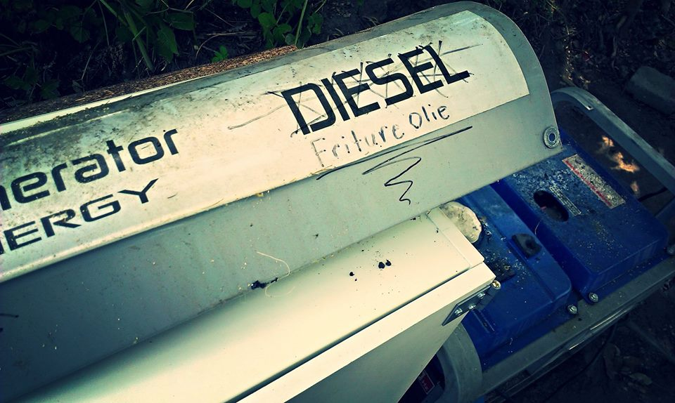 Generatoren kan klare kyllingeben og andre madrester, når den sorterer olien fra. (Foto: DTUs facebookside)