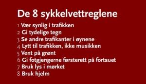 De otte norske cykelregler