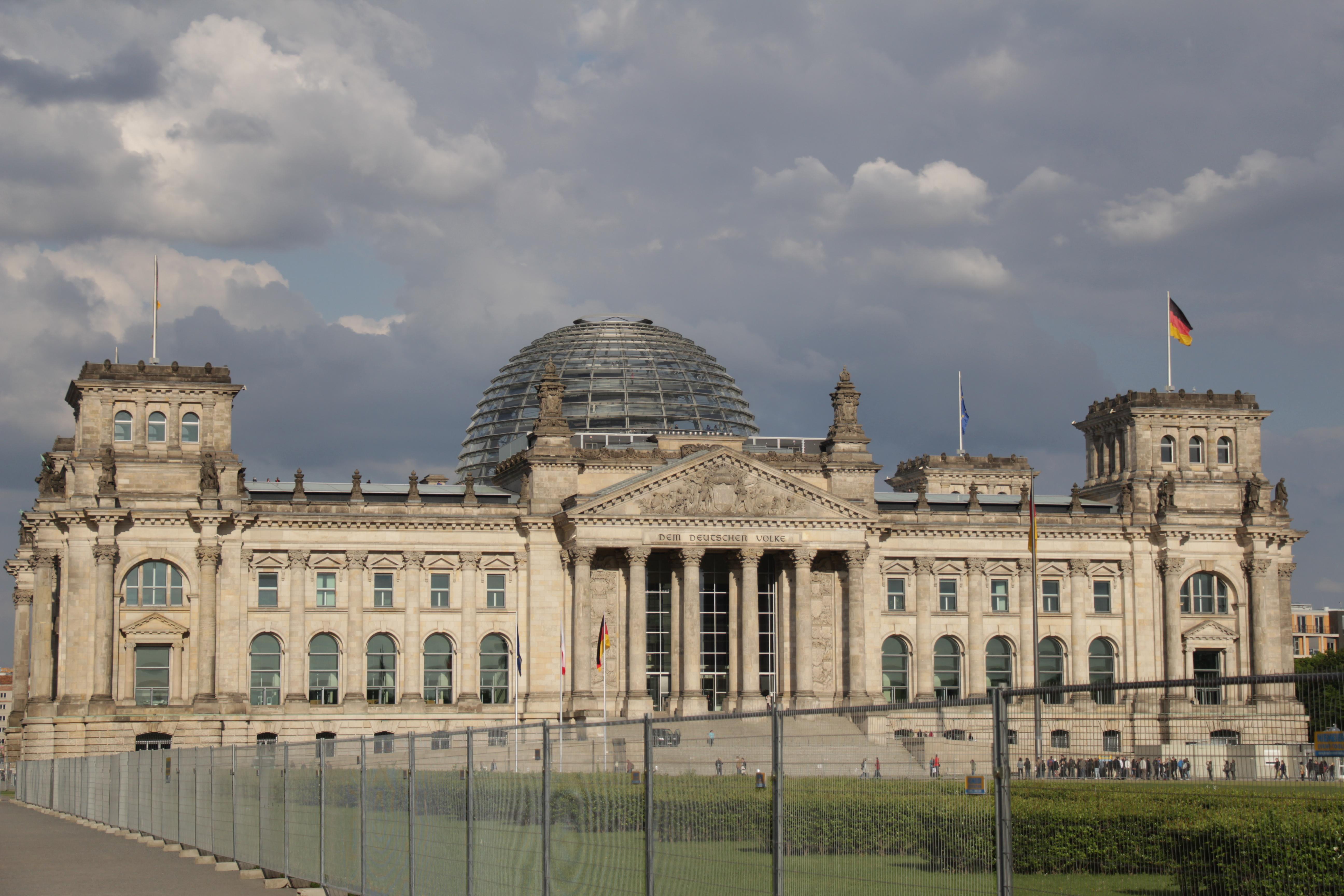 Deutscher Bundestag, a German parliamentary building which was opened in 1894.