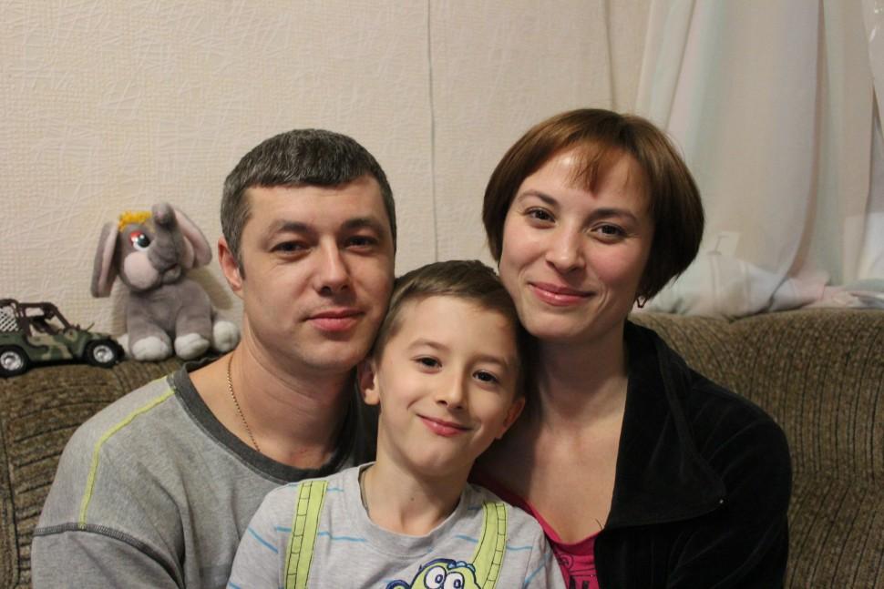 A displaced native Donetsk family living in Kramatorsk, Donetsk Oblast.