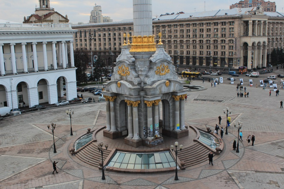 main protest site during Ukrainian Revolution in 2013