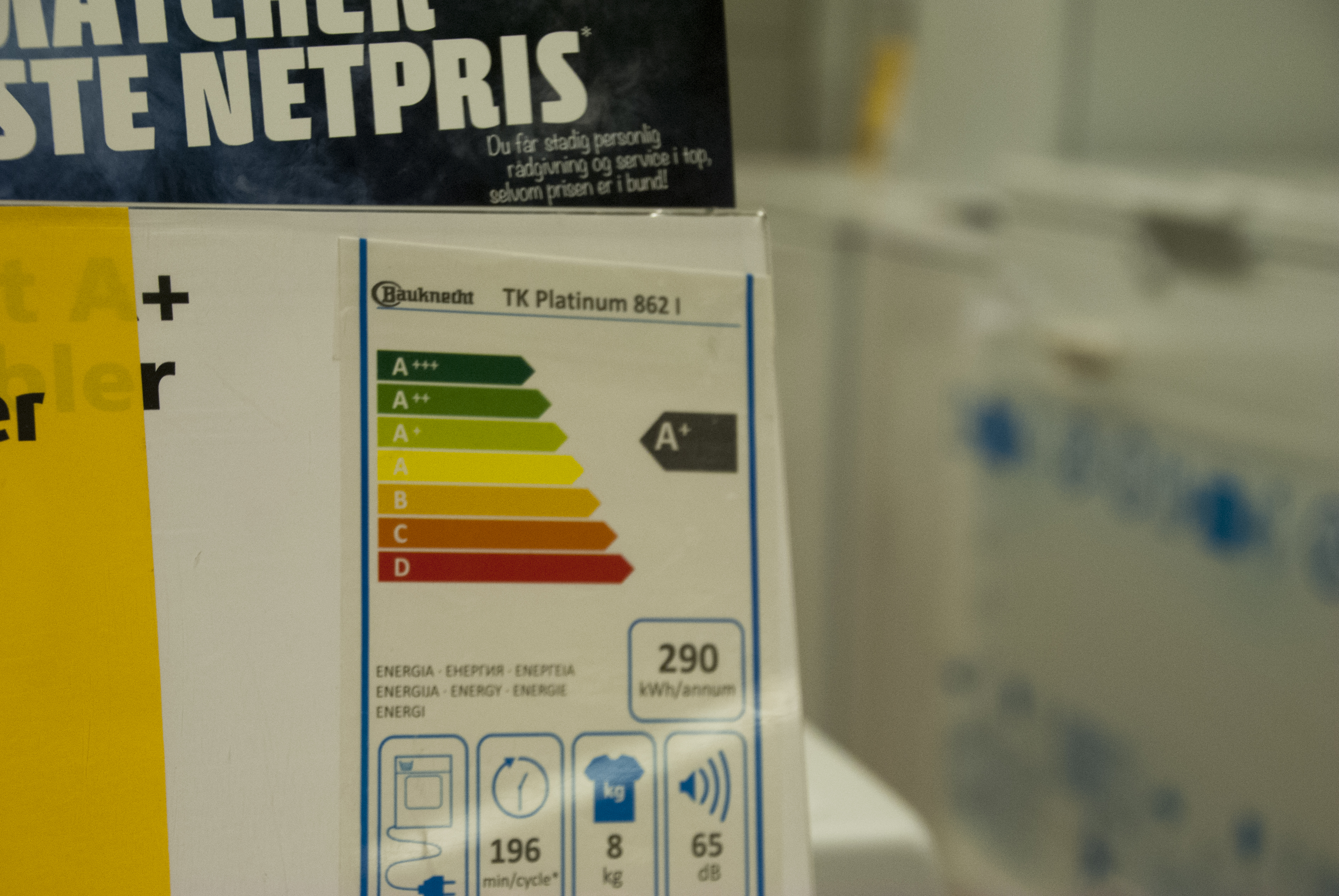 Most home appliances in the EU market, such as hoovers, ovens and refrigerators, require a the energy label