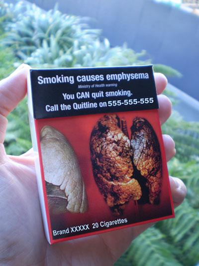 Example of Plain cigarette pack - Tobacco Control Supersite